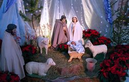 Jesus, Mary e Joseph foto de stock royalty free