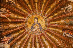Jesus and Mary Mosaic in Chora Church Stock Photos