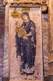 Jesus and Mary Mosaic in Chora Church Stock Image