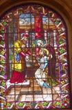 Jesus Mary Temple Stained Glass San Francisco el Grande Madrid Fotografia Stock Libera da Diritti