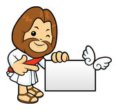 Jesus mascot has been directed towards business card. Royalty Free Stock Photos