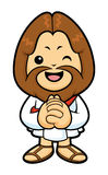 Jesus mascot in Prayer. Stock Image
