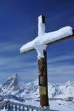 Jesus and Matterhorn Royalty Free Stock Photos