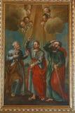 Jesus med St Peter och Paul Royaltyfria Foton