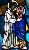 Jesus meeting his mother Mary Royalty Free Stock Images