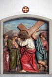 Jesus meets the daughters of Jerusalem, 8th Stations of the Cross Stock Image