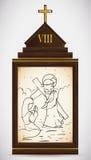 Jesus Meets kvinnorna av Jerusalem, vektorillustration Arkivbild