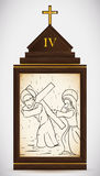 Jesus Meets sa mère, illustration de vecteur Photo libre de droits
