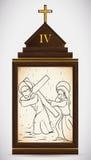 Jesus Meets zijn Moeder, Vectorillustratie royalty-vrije illustratie