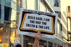 Jesus-Meldung stockbild
