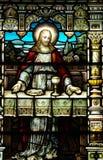 Jesus met brood en wijn (het Laatste Avondmaal) Stock Afbeeldingen