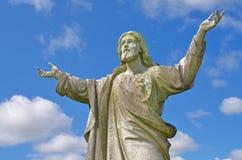 Jesus met ogen aan hemel Stock Fotografie