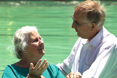 Evangelist Baptism senior woman Royalty Free Stock Photos