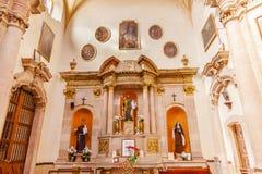 Jesus Monk Nun Statues Basilica Templo De La Compania Guanajuato México Imagem de Stock Royalty Free