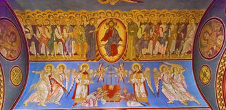Jesus Mosaic Basilica Saint Michael domkyrka Kiev Ukraina Arkivfoton