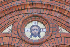 Mosaic icon of the Jesus Stock Images