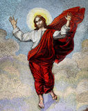 Jesus Christ. Old mosaic of Jesus Christ in the heavens stock images