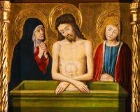 Jesus, Mutter Mary und Saint John stockbilder