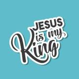 Jesus is my king concept Stock Photos