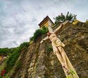 Jesus na cruz Foto de Stock