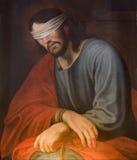 Jesus na ligação Foto de Stock