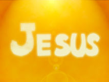 Jesus Name Background in bright gold colour Stock Photography