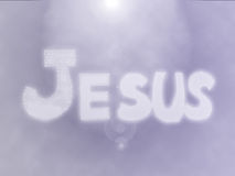 Jesus Name Background in purple colour Royalty Free Stock Photos