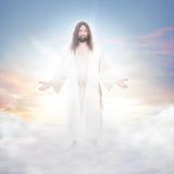Jesus nas nuvens imagem de stock royalty free