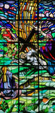 Jesus no através de Dolorosa - vitral Imagens de Stock Royalty Free