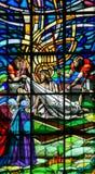 Jesus no através de Dolorosa - vitral Fotografia de Stock
