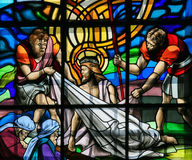 Jesus no através de Dolorosa - vitral Imagem de Stock Royalty Free