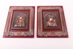 Jesus och jungfruliga mary Arkivbilder