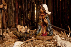 Jesus och Mary (julkrubban) Royaltyfri Bild