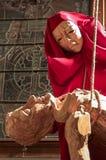 Jesus och Mary skulptur royaltyfria foton