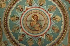 Jesus och tolv apostlar Arkivbild
