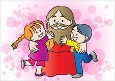 Jesus och ungar Royaltyfri Bild