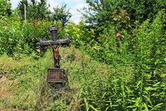 Jesus on the old village Cemetery, Czech Republic Royalty Free Stock Photos
