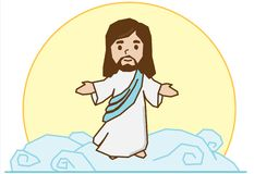 Free Jesus On The Cloud Royalty Free Stock Images - 141325679