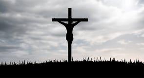 Jesus op de dwarsvector Stock Foto