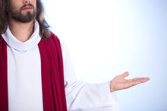 Jesus op heldere achtergrond royalty-vrije stock afbeeldingen