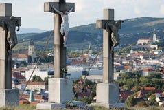 Jesus op het calvary kruis Royalty-vrije Stock Afbeeldingen