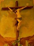 Jesus op het kruis Stock Fotografie