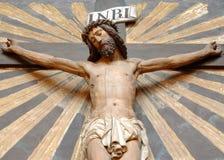 Jesus op het kruis Royalty-vrije Stock Afbeeldingen