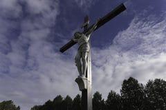 Jesus op het Kruis Royalty-vrije Stock Foto