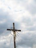 Jesus op het Kruis Stock Afbeeldingen