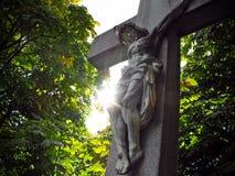 Jesus op het Kruis Royalty-vrije Stock Foto's