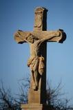 Jesus op kruis Stock Afbeeldingen