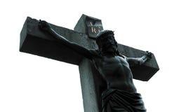 Jesus op kruisbeeld Stock Foto's