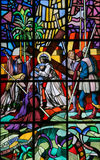 Jesus op via Dolorosa - Gebrandschilderd glas Royalty-vrije Stock Fotografie