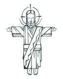 Jesus Open Arms b Stock Photography